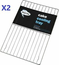 2 X Chef Aid Oblong Cake Cooling Tray Rack **2719
