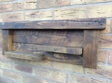 Rustic Solid Shelving Rack Made From reclaimed Wood