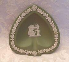 Vintage Wedge Wood Green Trinket Plate (England)