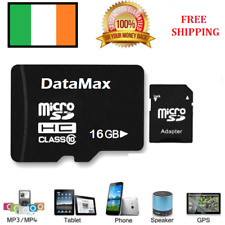 16GB DATAMAX Micro SD Card TF Flash Memory MicroSDHC Class 10 + Adapter