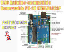 ARDUINO UNO Compatible CH340 R3 with REMOVEABLE ATmega328P PU20 + USB Cable