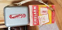 Rare Vintage 1950's Industrial Metal Box Herbel Fire Alarm Detector. Working