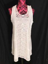 100% Cotton Unique White Lace Lilly Pulitzer Dress Size Medium