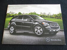 2011 Mercedes Benz M-class Sales Catalog ML350 ML450 ML550 450 Brochure ML63 AMG