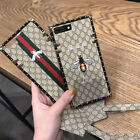 Supreme Fashion Embroidery Bee Rose Soft Cover Case For iPhone X 6 6S 7 8 Plus