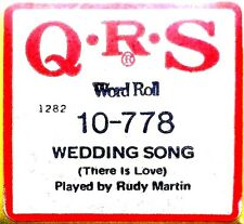 QRS Peter Paul and Mary WEDDING SONG (There is Love) 10-778 Player Piano Roll