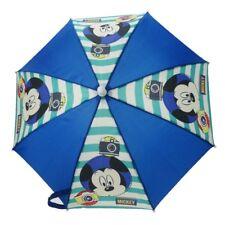 Official Children's Mickey Mouse Blue Umbrella - Disney Brolly New School Rain