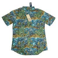Reyn Spooner Mens Hawaiian Shirt Size Medium M Sumatra SLDE Azure Tailored Fit