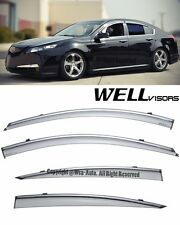 For 09-14 Acura TL WellVisors Smoke Side Window Visors Deflectors Rain Guard
