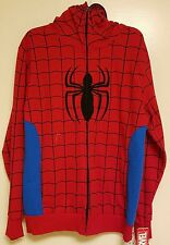 Men's Marvel Spiderman Sweatshirt Hooded Hoodie Costume Fleece Red Large