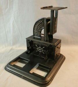 Outstanding Antique 1904 Triner Postal Scale Inkwells Pen Holder Stamp Drawer NR