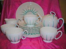 Royal Stafford Starlite Merlin Ware Part Tea Set Teapot Cups Cake Plate 15 Pcs