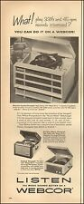 1957 Vintage ad for WEBCOR`Holiday radio-Fonograf photo (102515)
