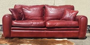 A Superb Duresta spitfire 3 seater sofa fantastic quality In oxblood red leather
