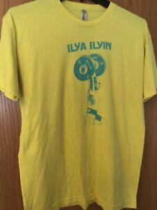 Ilya Ilyin.  Yellow Shirt.  XL.   Small Stain On Front.  (H.G.  On Back)