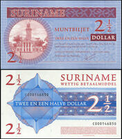 Suriname 2 1/2 Dollar. NEUF 01.01.2004 Billet de banque Cat# P.156a