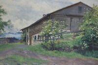 Gustav Müller Aquarell Haus in Beilenberg im Allgäu 16. Juni 1947