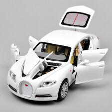 Alloy Diecast 1/32 Bugatti Veyron 16C Galibier w/light&sound White Car Model Toy