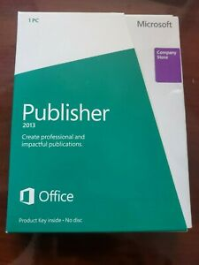Microsoft Publisher 2013 (Opened Box)