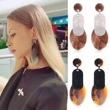 Women Fashion Rhinestone Round Drop Dangle Long Ear Stud Earrings Jewelry Gift