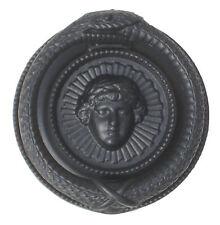 Black Cast Iron Regency Serpent Ouroboros Door Knocker - antique period knockers