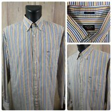 Paul & Shark Men's 46 Long Sleeve Button Front Shirt Multicolor Striped VGC