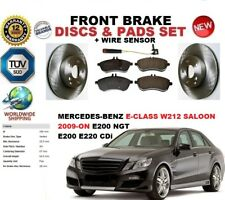 FOR MERCEDES E-CLASS SALOON W212 09-ON FRONT BRAKE DISCS SET + PADS KIT + SENSOR