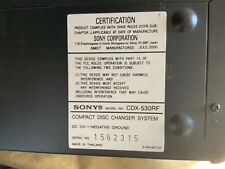 Sony Cdx-530Rf 10 Disc Cd Changer with Super Suspension