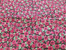 27 metro rosa papavero,Papaveri tessuto in policotone con stampa ( RULLO