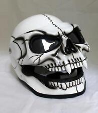 Motorcycle Helmet Skull Visor Flip Up Shield Ghost Rider Full Face