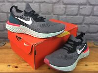 NIKE LADIES UK 4 EU 37.5 EPIC REACT FLYKNIT BLACK PINK GREEN TRAINERS RUNNING C