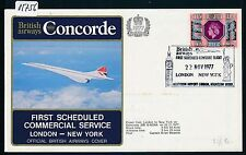 05756) BA Concorde FF London - New Yoek 22.11.77