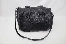 Alexander Wang Rocco Textured Leather Tote Black GG8 $975