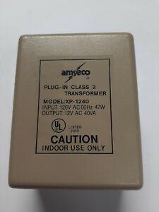 Amseco Transformer XP-1240 Power Supply In:120V 60Hz 47W Out: 12VAC 40VA