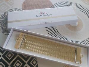 bracelet doré large manchette mon guerlain avec boîte d origine rare collector