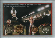 Arsenal FC Vintage George Graham League Champions Coin Retro Fan Gift Set 1989