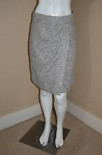 ETCETERA Tweed Lined Faux Wrap Gorgeous Skirt~Size 10