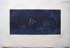 JOAN PONC GRAVURE 1977 SIGNÉE AU CRAYON ANNOTÉE HC HANDSIGNED HC ETCHING