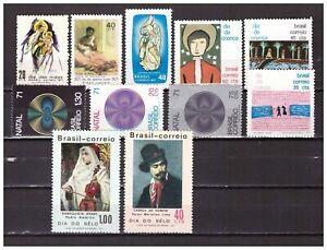 S24216) Brasil 1971 MNH All Complete Sets 11v