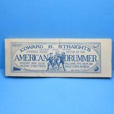 Rare Edward B Straight's American Drummer Pocket Edition 1917