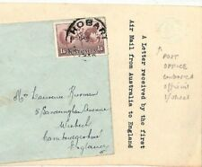 LL260 AUSTRALIA AVIATION England First Flight Air Mail Cover GPO MEMO *Wisbech*