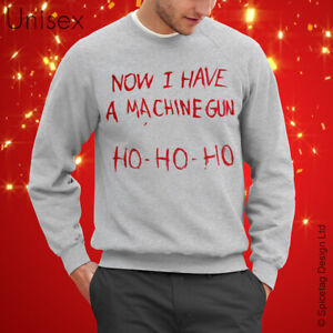 Now I Have A Machine Gun Sweater Christmas Movie Jumper Xmas Hard Gift Present T
