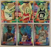 1993 & 1994 Finest Refractors Lot of 6 Different Basketball Cards In Mint Cond.