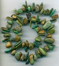 "TURQUOISE Peruvian Beads Natural Genuine 4-20mm Chunky Nuggets 16"" st"