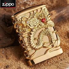 Jacket Gold Japanese Dragon Red Ruby Zippo Lighter - Us Stock
