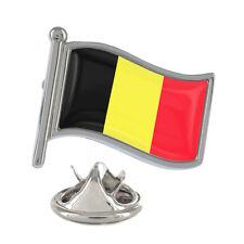 Belgium Wavy Flag Pin Badge Brussels EU Country Belgian Brand New & Exclusive