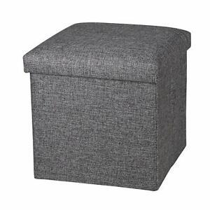 Folding Organizer Storage Ottoman Bench Footrest Stool Coffee Table Cube