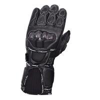 Black Motorcycle Leather Cowhide Bikers Gloves Motorbike Winter Glove