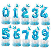 32'' Number Foil Balloons Giant Digit Happy Birthday Party Decor Baby Boy Shower