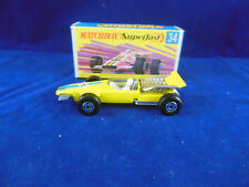 Matchbox Superfast MB 34 a Formula 1 Racing car in Yellow RN 16 Narrow Wheels